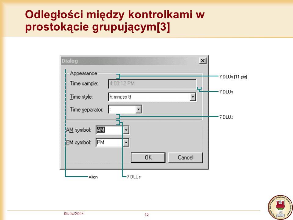 Odległości między kontrolkami w prostokącie grupującym[3]